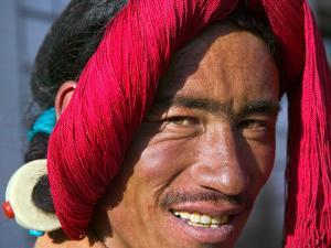 Tibetan Man, Tibet, China by Keren Su