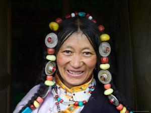 Tibetan Woman, Tibet, China by Keren Su