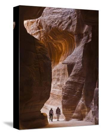 Tourists in Al-Siq, Petra, Jordan