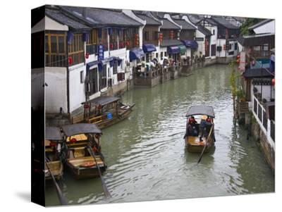 Traditional Houses and Boat on the Grand Canal, Zhujiajiao, Near Shanghai, China