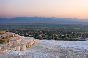 Travertine terraces of Pamukkale (UNESCO World Heritage Site), Turkey by Keren Su