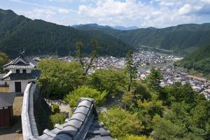 View of Gujo Hachiman cityscape with the castle, Japan by Keren Su