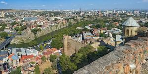 View of Tbilisi from Narikala fortress, Georgia. by Keren Su