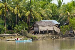 Village House on the Shore of Kaladan River, Rakhine State, Myanmar by Keren Su