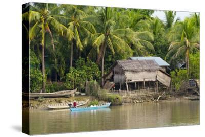 Village House on the Shore of Kaladan River, Rakhine State, Myanmar