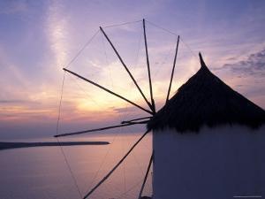 Windmill at Sunrise, Mykonos, Greece by Keren Su