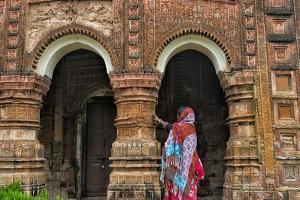 Woman at Puthia Temple Complex, Rajshahi Division, Bangladesh by Keren Su