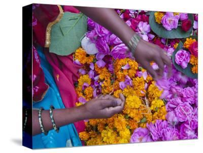 Woman Selling Flower, Pushkar, Rajasthan, India
