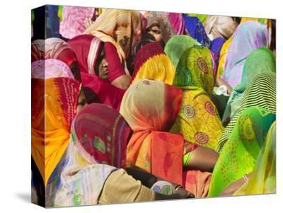 Women in Colorful Saris Gather Together, Jhalawar, Rajasthan, India