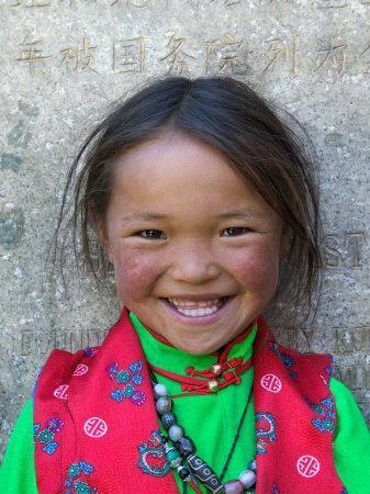 Young Tibetan Girl, Sakya Monastery, Tibet, China