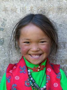 Young Tibetan Girl, Sakya Monastery, Tibet, China by Keren Su