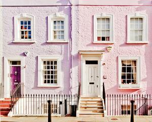London Pink Purple Houses by Keri Bevan