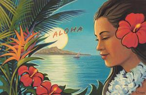 Aloha Moonrise by Kerne Erickson
