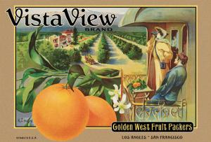 "Crate Label ""Orange"" by Kerne Erickson"