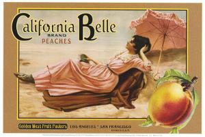 "Crate Label ""Peaches"" by Kerne Erickson"