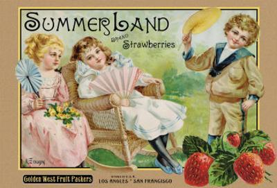 """Crate Label """"Strawberry"""""""