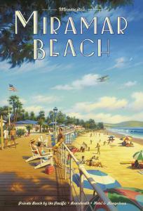 Miramar Beach, Montecito California by Kerne Erickson