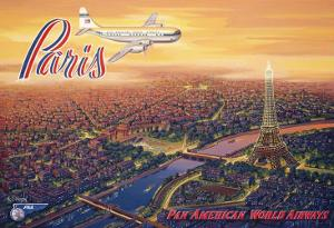 Over Paris by Kerne Erickson