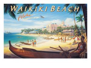 Waikiki Beach by Kerne Erickson