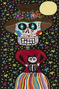 Day of the Dead Girl with Cat by Kerri Ambrosino