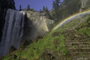 Rainbow over the Mist Trail, near Vernal Falls, Yosemite Np, AZ by Kerrick James