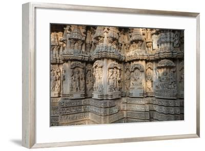Keshava Temple Houses Friezes of Animals and Humans, and Sculptures of Hindu Gods-Kelley Miller-Framed Photographic Print