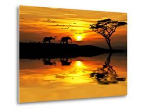 Africa Parading along the Lake by kesipun
