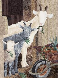 Three Goats and a Wheelbarrow by Kestrel Michaud