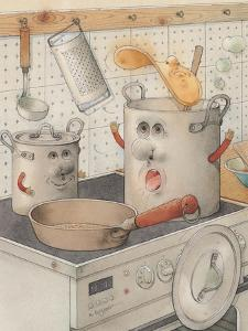 On the Kitchen Range, 2003 by Kestutis Kasparavicius