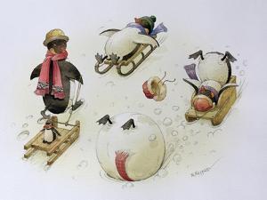 Penguins Sledging, 1999 by Kestutis Kasparavicius