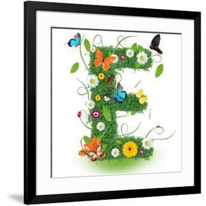"Beautiful Spring Letter ""E"" by Kesu01"