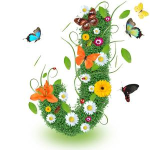 "Beautiful Spring Letter ""J"" by Kesu01"