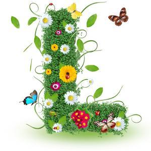 "Beautiful Spring Letter ""L"" by Kesu01"