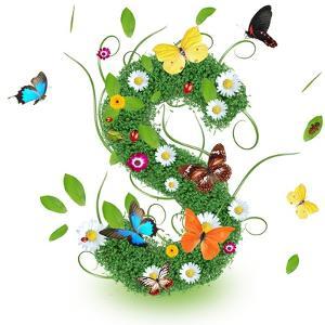 "Beautiful Spring Letter ""S"" by Kesu01"