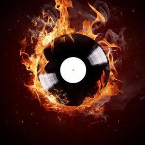 Burning Vinyl Disc-Hot Hits by Kesu01