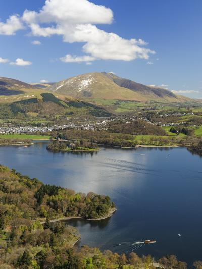 Keswick and Skiddaw Viewed from Catbells, Derwent Water, Lake District Nat'l Park, Cumbria, England-Chris Hepburn-Photographic Print