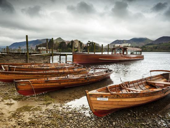 Keswick Launch Boats, Derwent Water, Lake District National Park, Cumbria, England-Chris Hepburn-Photographic Print