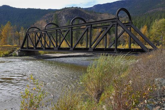 Kettle Valley Rail Bridge over the Nicola River-digimax-Photographic Print