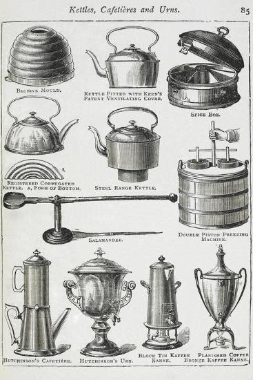 Kettles, Cafetieres and Urns-Isabella Beeton-Giclee Print