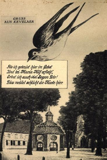 Kevelaer Am Niederrhein, Blick Auf Gnadenkapelle Und Basilika, Schwalbe--Giclee Print