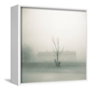 Foggy Morning Scene with Barn by Kevin Cruff