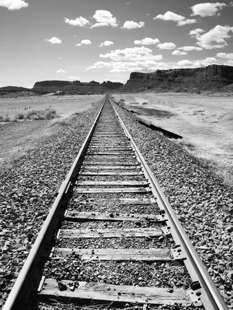 Klan00088 Moab Train Tracks Desert Landscape Utah