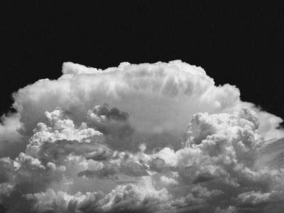 New Mexico Cloud Thunderhead Landscape Abstract in Black and White, New Mexico