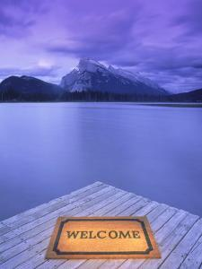 Welcome Mat on Dock, Alberta by Kevin Law
