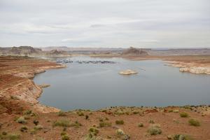 Arizona, Glen Canyon Nra with the Lake Powell Resort and Marina by Kevin Oke