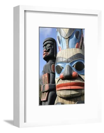 British Columbia, Vancouver Island. Human Above Killer Whale Above Indian Chief Holding Copper