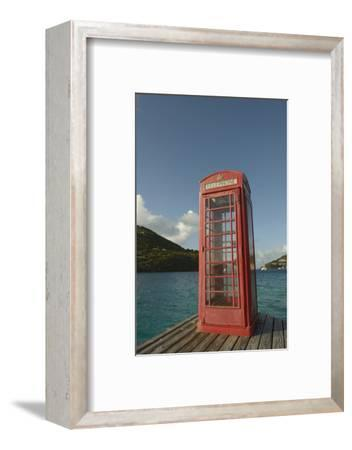 Caribbean, Marina Cay. Pusser's Red Box English Telephone