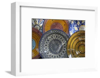 France, Aix-En-Provence. Ceramic Plates, Cours Mirabeau Market