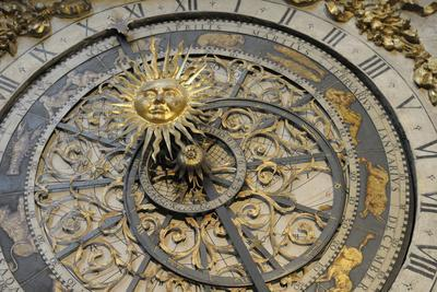France, Rhone Alpes, Lyon. Astronomical Clock, Saint Jean Baptiste