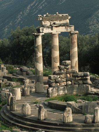 Ruins of Sanctuary of Athena at Delphi by Kevin Schafer
